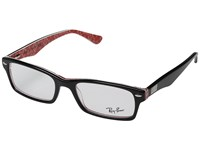 Ray Ban 0Rx5206 52Mm Top Black Texture Red Fashion Sunglasses