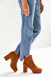 Jeffrey Campbell Fosse Low Disco Platform Boot Tan