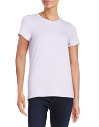Lord And Taylor Petite Knit Crewneck Tee African Violet