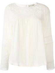 Sea Embroidered Detail Blouse Nude And Neutrals