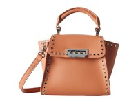 Zac Posen Eartha Iconic Top Handle Mini Apricot Top Handle Handbags Orange
