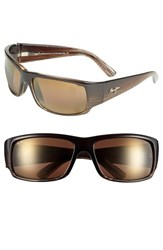 Men's Maui Jim 'World Cup Polarizedplus2' 64Mm Sunglasses Brown Marlin