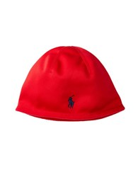 Polo Ralph Lauren Fleece Skull Cap Red