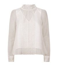 See By Chloe Embroidered Light Mesh Top Female White