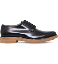 Dries Van Noten Micro Leather Derby Shoes Black