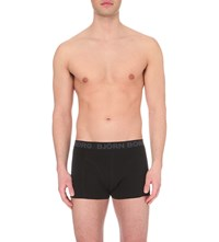 Bjorn Borg Surface Pack Of Two Stretch Cotton Trunks Black