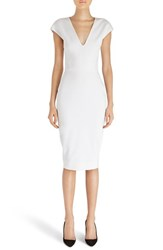Victoria Beckham Women's Cap Sleeve Cotton Blend Sheath Dress