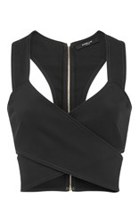 Derek Lam Crossover Crop Top Black