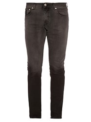 Alexander Mcqueen Ombr Mid Rise Skinny Jeans