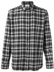 Saint Laurent Classic Western Checked Shirt Black