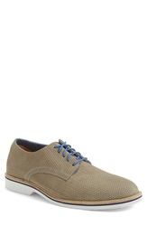 1901 'Layton' Perforated Leather Derby Men Cenere