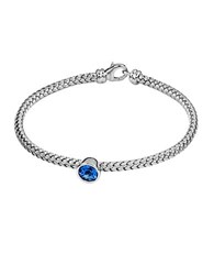 Effy Balissima Blue Topaz And Sterling Silver Woven Bracelet