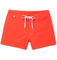 Sundek Rainbow Mid Length Swim Shorts Orange