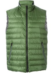 Fay Padded Zip Gilet Green
