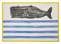 Thomas Paul Thomaspaul Whale Sketch Tea Towel