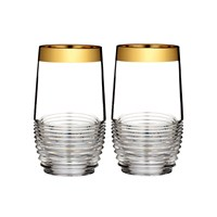 Waterford Circon Hiball Tumblers Set Of 2 Gold Band