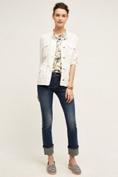 Anthropologie Pilcro Parallel Selvage High Cuff Jeans Spring Tide 24 Pants