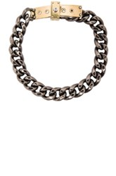 Lanvin Chain Choker Necklace In Metallics