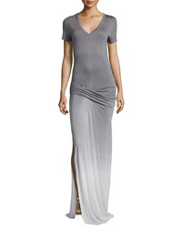 Young Fabulous And Broke Young Fabulous And Broke Bentley Ombre Maxi Dress White Gray