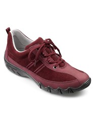 Hotter Leanne Ladies Lightweight Lace Up Shoe Maroon