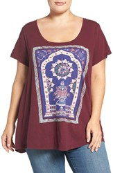 Lucky Brand Plus Size Women's Embellished Graphic Print Tee