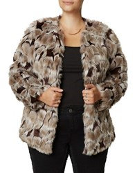 Junarose Plus Short Faux Fur Coat Fossil