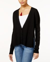 Rachel Rachel Roy Long Sleeve Ribbed Cardigan