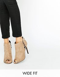 Asos Pan Wide Fit Heels Taupe Grey