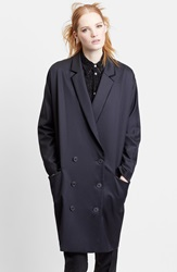 Julien David Double Breasted Oversize Wool Coat Dk Navy