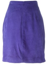 Versace Vintage Reversible Skirt Blue