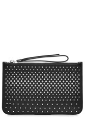 Marc By Marc Jacobs Embellished Leather Clutch Black