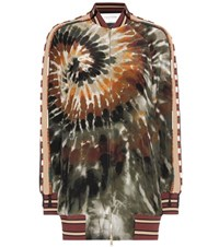 Valentino Printed Silk Bomber Jacket Multicoloured