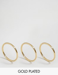 Pilgrim 3 Pack Gold Plated Rings Gold Plated
