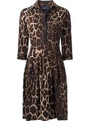 Samantha Sung 'Claire' Dress Brown