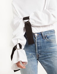 Pixie Market Belt Buckled Sleeve Tie Tee