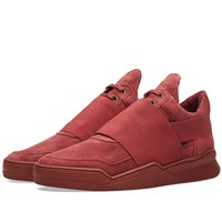 Filling Pieces Low Top Combined Elastic Sneaker Burgundy