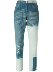 Stella Mccartney Contrasted Collar Jeans Blue