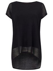 Phase Eight Carson Sheer Knit Top Black