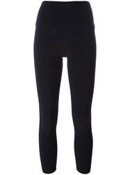 Norma Kamali Cropped Leggings Blue