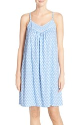 Women's Midnight By Carole Hochman Print Cotton Chemise