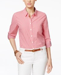 Tommy Hilfiger Gingham Button Down Shirt Red