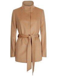 Jaeger Wool Funnel Neck Coat Camel