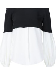 Hellessy Off The Shoulder Layer Shirt Black