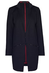 James Lakeland Honeycomb Zip Pocket Coat Black