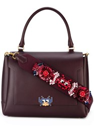 Anya Hindmarch Arcade Motif Embellished Tote Red