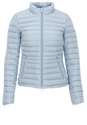 Hallhuber Two Way Zipper Down Jacket Light Blue