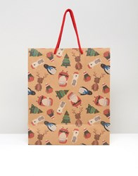 Paperchase Christmas Characters Large Gift Bag Multi