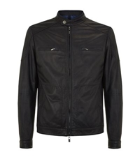 Pal Zileri Leather Biker Jacket