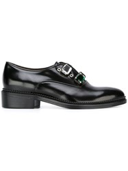 Toga Gem Embellished Oxford Shoes Black