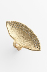 Melinda Maria 'Mademoiselle' Pod Ring Gold Clear